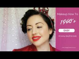 1940s vine makeup tutorial a simple authentic style for the everyday