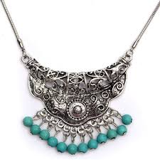vintage tibetan silver turquoise pendant snake chain necklace at banggood sold out