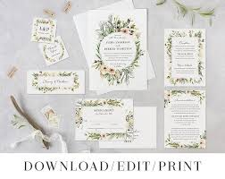 avery wedding templates wedding invitation template printable wedding set instant download
