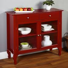 Kitchen Buffet Hutch Furniture Buffet Sideboard China Cabinet Red Server Hutch Table Country