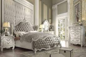 Rustic King Size Bed White Bed Frame Wooden White Queen Bed King ...