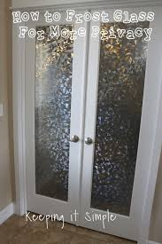 how to frost glass doors with vinyl for more privacy