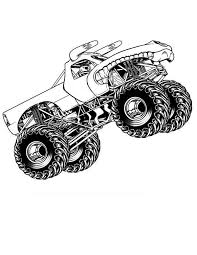 Monster Truck Flying Coloring Page Print Now Monster Truck