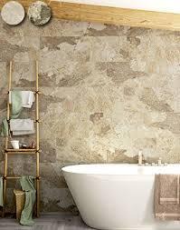 cream stone effect bathroom tiles