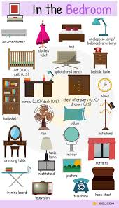 Unbelievable Furniture Vocabulary In English Bedroom Pictionary