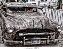 custom american car with very special paint job stock image