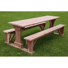 commercial grade indoor outdoor red cedar pub trestle table 4 5 6