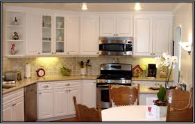 Paint For Laminate Cabinets How To Refinish White Laminate Kitchen Cabinets Monsterlune