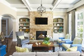 Interior decorator atlanta family room Minimalist Coastal Inspired Family Room With Gas Fireplace Designed By Robin Lamonte Houzz Interior Design Do You Have Fireplace For Chilly Nights