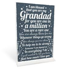 details about birthday gifts for grandad grandpas standing plaque thank you gift