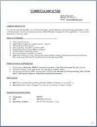 How To Write A Simple Resume How To Write Resume Sample Simple ...
