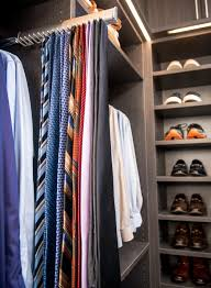 and speaking of ties an extendable tie rack lets james see all his options at a glance while taking up virtually no space in the closet