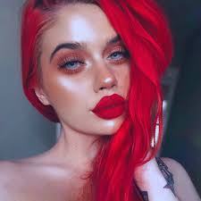 Valentine Bright Red Vegan Semi Permanent Hair Dye Lime Crime