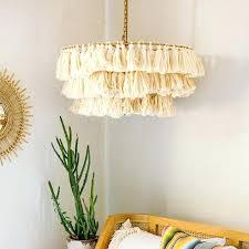 tassel chandelier lamp shade pink
