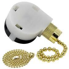 4 wire ceiling fan pull chain switch zing ear ze 268s2 brass finish