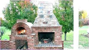 fireplace pizza oven outdoor stone fireplace
