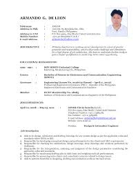 Chic Latest It Resume Format 2015 About Free Resume Templates