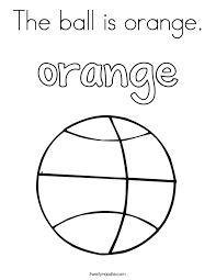 Small Picture Orange Coloring Pages Twisty Noodle