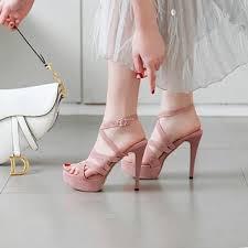 Yesstyle Shoe Size Chart Strappy Platform High Heel Sandals