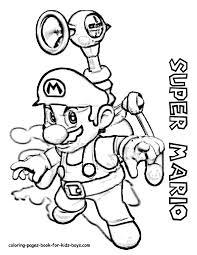 Super Mario Coloring Pages Mario Bros Games Mario Bros Coloring
