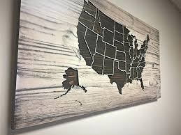 wood map wall art absolutely smart united states wall art map sign rustic painted popular with wood map wall art