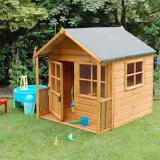 lawn garden contemporary rectangle brown striped wood garden playhouse design kids with rectangle wood door and square brown wood windows also blue