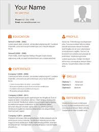 Stunning Design Basic Sample Resume 5 Template 51 Free Samples