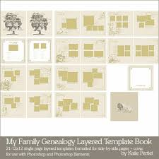 My Family Genealogy Layered Template Book Katie Pertiet Pse Ps