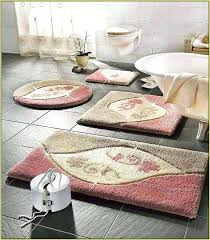 pink bathroom mat carpet black and white bath fluffy rugs extra large mats memory foam set