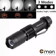 Bộ 1 đèn pin siêu sáng C'mon Power TRAVELER XML-T6 + 1 pin sạc + bộ sạc  nhanh USB 1A