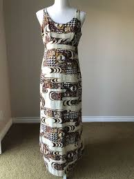 Hawaiian Dress Designers Malihini Hawaii Vintage Designers Collection Maxi Dress Size 12