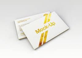 Letter Press Business Card Luxury Gold Foil Ink Letterpress Business Card Mock Up
