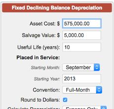 Fixed Asset Depreciation Calculator Fixed Declining Balance Depreciation Calculator