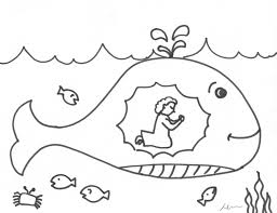 Jonah Coloring Pages Bible Archives At Jonah And The Whale