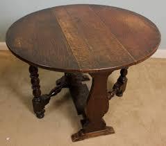 antique oak occasional low table