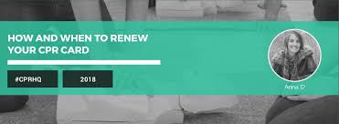 cpr renewal recertification how and when to renew