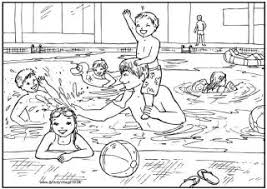 Small Picture Swimming pool colouring page Zomer Kleurplaten Pinterest