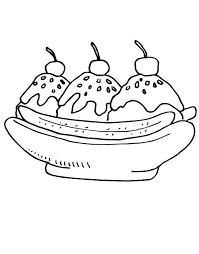 Small Picture Unique Banana Split Coloring Page Top Coloring 2825 Unknown