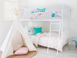 kids bunk bed. Mocka Sonata Bunk Bed - White With Piccolo Teepee And Swirl Rug Kids