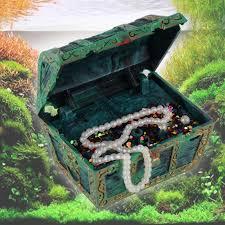 Treasure Chest Decorations Aquarium Fish Tank Ornament Air Action Treasure Chest Spectra
