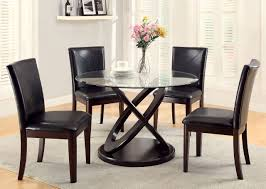 Glass Kitchen Table Sets Dining Room Incredible Round Glass Dining Table Set Marvellous