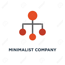 Minimalist Company Organization Hierarchy Chart Template Icon