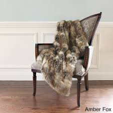 aurora home wild mannered luxury long hair faux fur 58 x 36 inch lap throw free today 14754633
