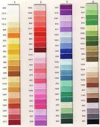 Anchor Floss Colour Chart Anchor Marlitt Threads Color Chart List Of Colors