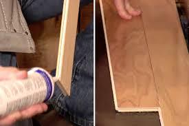 floating hardwood floor installation via the tongue and groove method