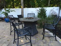 outdoor chairs and table before shrink wrapping huntington ny