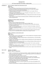 Social Media Specialist Resume Sample Media Communications Specialist Resume Samples Velvet Jobs 14