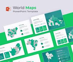World Map Powerpoint Template Editable Globe Ppt