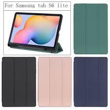 Bao da bảo vệ máy tính bảng Samsung Galaxy Tab S6 Lite 10.4 inch SM-P610  P615 P617 có khe đựng bút