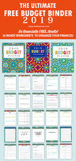 Free Budget Download Free Printable Budget Planner 2019 30 Budget Templates